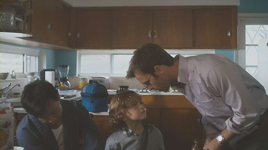 "Patrick Wang (left), Sebastian Brodziak and Trevor St. John form a family in ""In the Family."" Photo: Inthefamilythemovie.com"