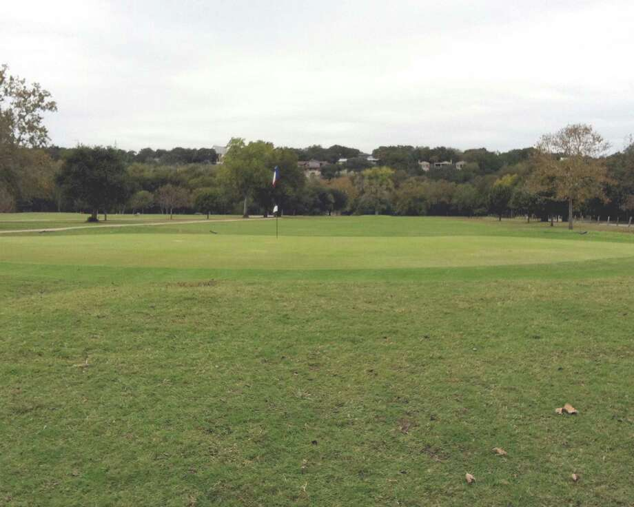 No. 5 at Landa Park Golf Course in New Braunfels is another hole that invites players to hit away.