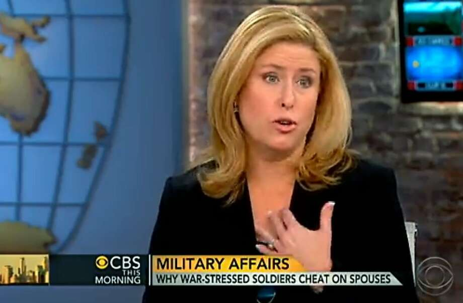 Rebecca Sinclair wants people to see the issues behind military infidelity. Photo: Uncredited, Associated Press