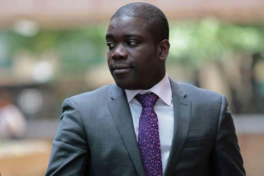 Ghanaian-born Kweku Adoboli's fraud conviction carried a maximum jail term of 10 years. Photo: Sang Tan, STR / AP