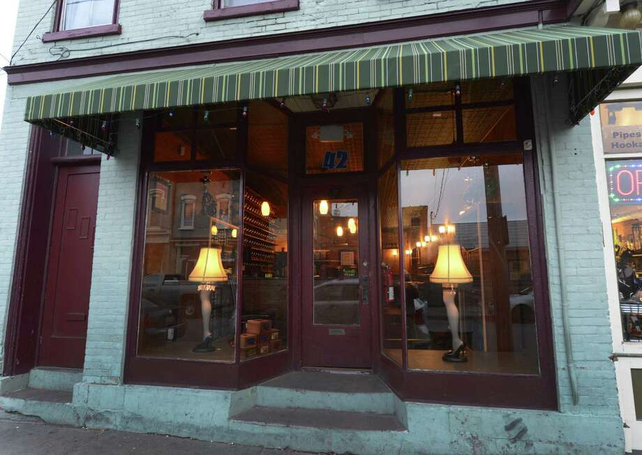Exterior view of Badger's Hookah Bar at 42 Caroline Street in Saratoga Springs, N.Y. Nov 20, 2012.     (Skip Dickstein/Times Union) Photo: SKIP DICKSTEIN