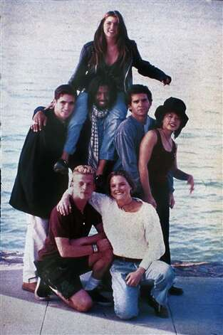 "Pedro Zamora, standing at left, is shown with the rest of the cast of MTV's ""The Real World"" in 1994. The AIDS educator died that year.  Photo: Anonymous, AP File Photo / AP2006"