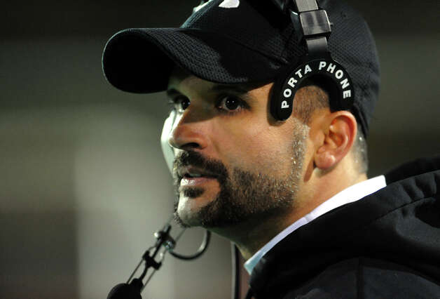 Bullard-Havens Head Coach John Johnson III, during boys football action against Bassick in Bridgeport, Conn. on Tuesday November 20, 2012. Photo: Christian Abraham / Connecticut Post