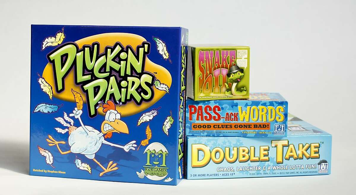 Party games for the 2012 holiday season. seen on Monday, Nov. 19, 2012 in San Francisco, Calif., include,