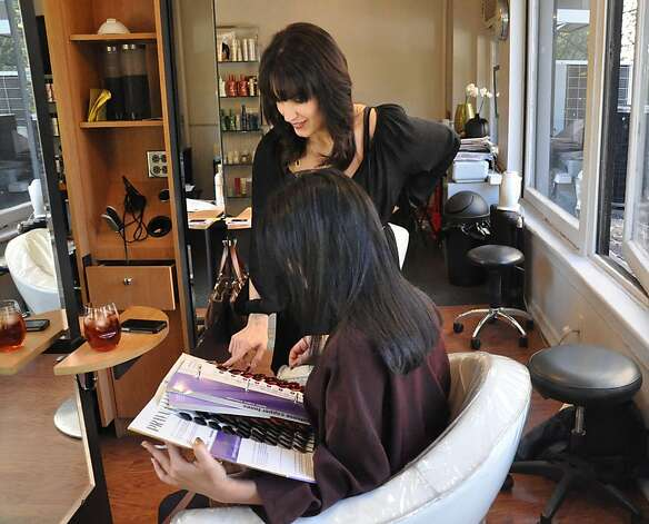 New York hair stylist Natalija Josimov has stopped using Brazilian Blowout and similar hair-straightening products after suffering burning eyes, sore throats and respiratory problems. Photo: Shelley DuBois, Courtesy EHN