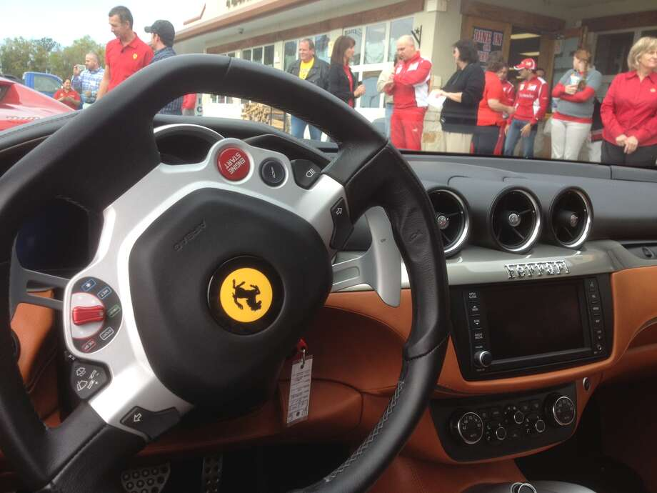 The view from behind the wheel of a Ferrari FF, the company's touring option. Photo: Dan X. McGraw