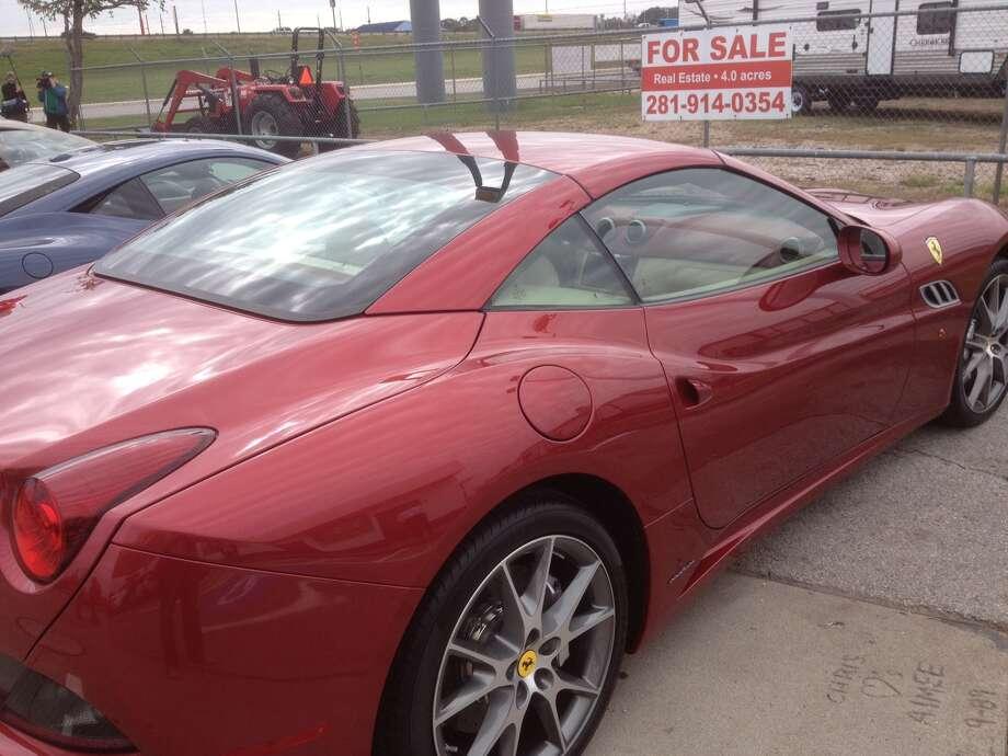 This is a photo of the rear of a Ferrari California. Photo: Dan X. McGraw