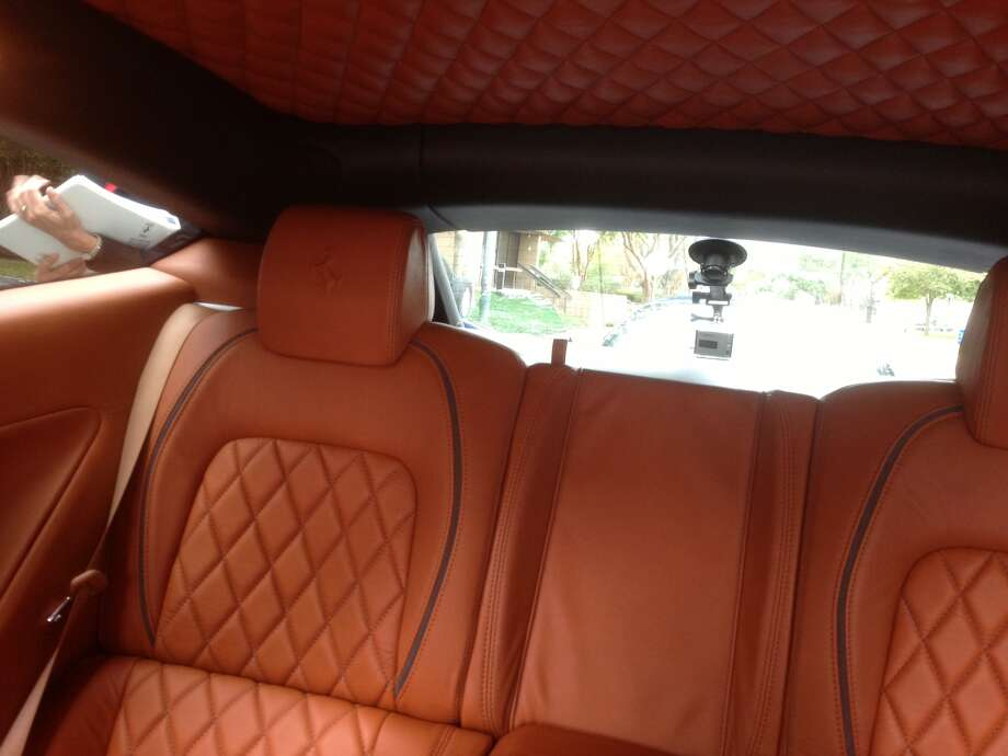 Have you seen a better looking back seat? Photo: Dan X. McGraw
