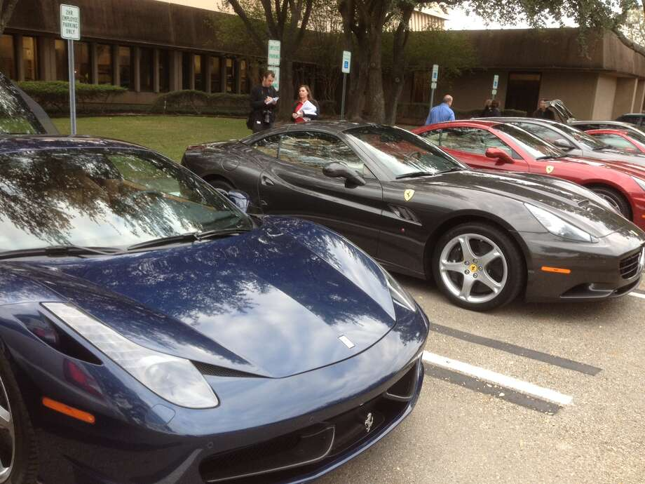 How often do you see four Ferraris parked together? Photo: Dan X. McGraw