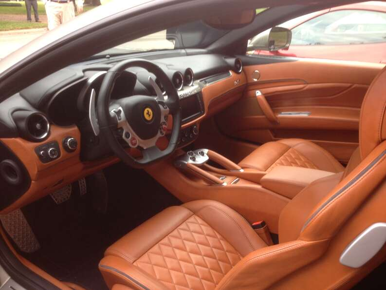 The interior of the Ferrari FF, the company's touring option.