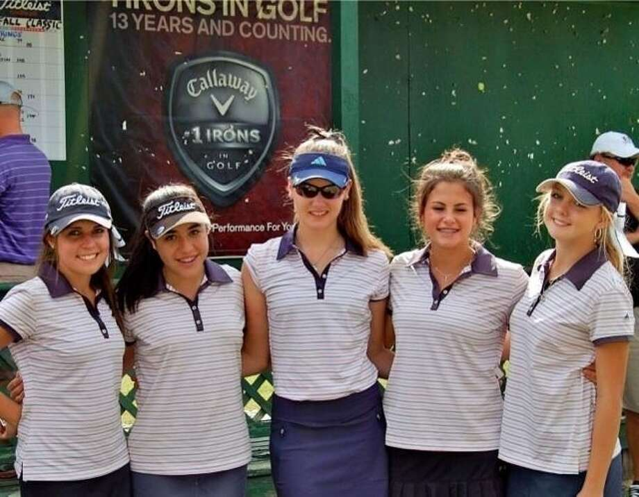The Smithson Valley High School JV Girls Golf Team won first place at a tournament on Monday Nov. 5 at Quail Creek in San Marcus. Pictured from left to right are Hannah May, Holly Mendez, Brooklyn Sutton, Emma Seminaro, and Shelby Stuever. Photo: Courtesy Photo