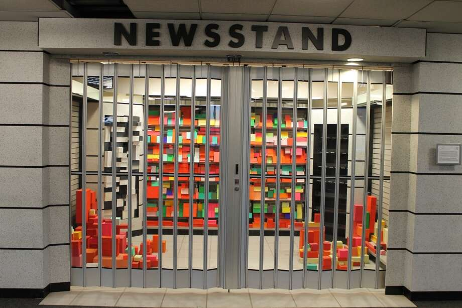 News Stand, Nancy Shaver, Boxes, paper, paintShelf Life, T. Marie, Time-based drawingInstalled 2008 - Present