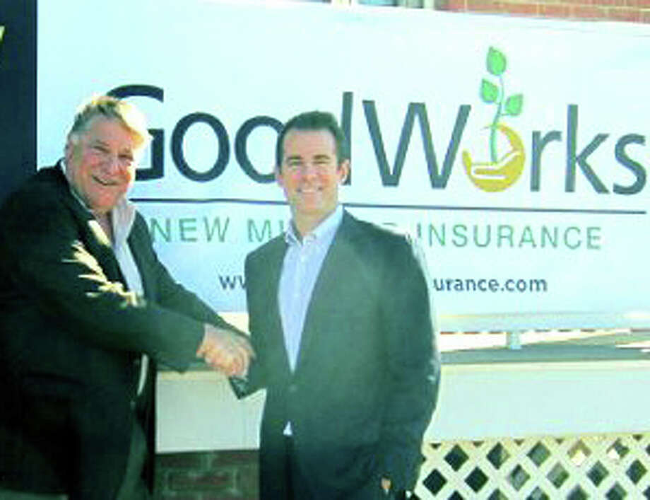Jim Kick, left, longtime owner of New Milford Insurance Agency, has brought his business into partnership with Chad Yonker's GoodWorks Insurance in New Milford. Photo: Contributed Photo