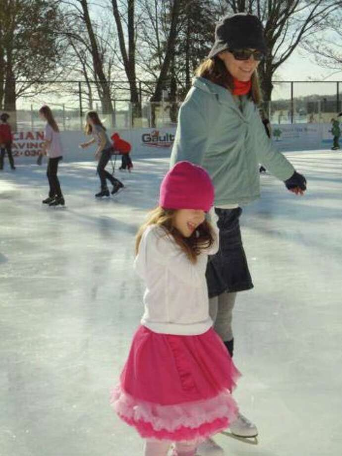 Skate off that turkey and pumpkin pie Friday when the Westport PAL ice rink opens for the season. Photo: File Photo / Westport News