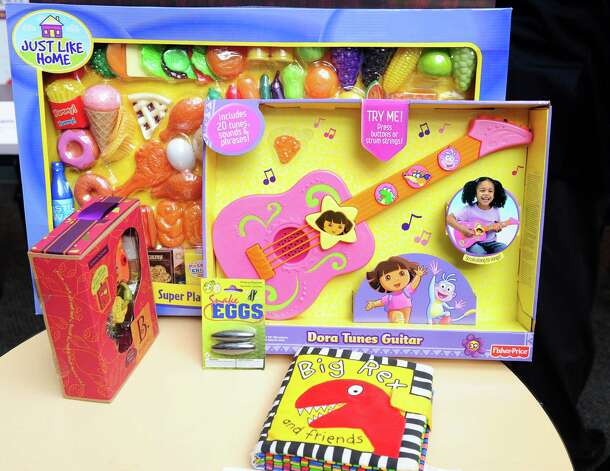"A sample of toys on ConnPIRG's 27th annual ""Trouble in Toyland"" report Tuesday, Nov. 20, 2012. Photo: Autumn Driscoll / Connecticut Post"