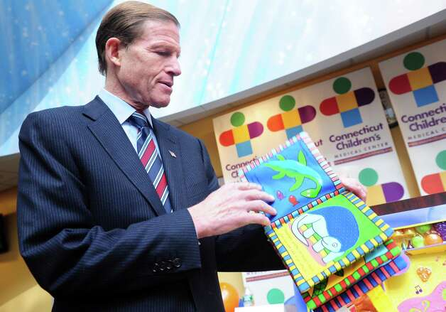 "U.S. Sen. Richard Blumenthal discusses ConnPIRG's 27th ""Trouble in Toyland"" report Tuesday, Nov. 20, 2012 at Connecticut Children's Medical Center in Hartford, Conn. Photo: Autumn Driscoll / Connecticut Post"