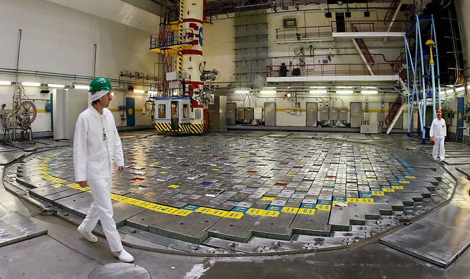 A worker walks around Reactor 2 two weeks before the Ignalina facility was decommissioned in 2009. Photo: Mindaugas Kulbis, Associated Press