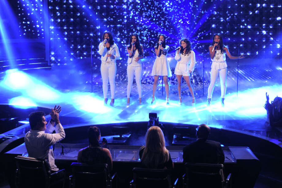 THE X FACTOR: 12 Perform: Fifth Harmony performs live on THE X FACTOR airing Wednesday, Nov. 14 on FOX.  CR: Ray Mickshaw / FOX.