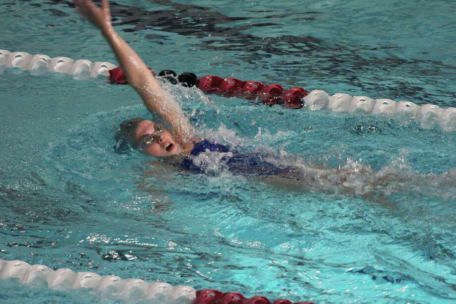 Fairfield Ludlowe's Scout Curtain competes in a meet during the Falcons' season. Photo: Contributed Photo