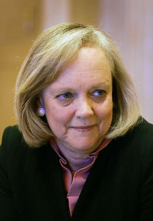 Meg Whitman of HP has accused Autonomy of inflating its financial value. Photo: Ronda Churchill, Bloomberg