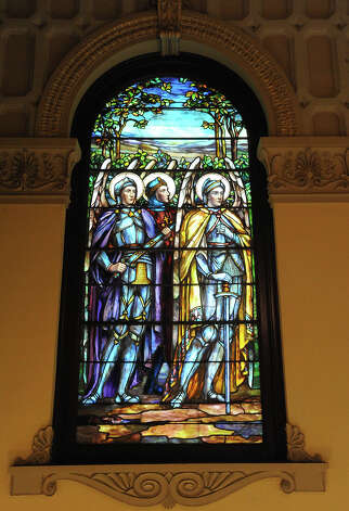 The First Presbyterian Church in Orange is filled with unique stained glass windows and intricate archetectural details, Thursday. Tammy McKinley/The Enterprise Photo: TAMMY MCKINLEY