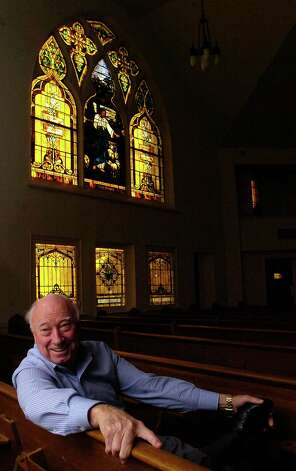 A year after buying the Westminster Presbyterian Church in downtown Beaumont, Jim Austin is still trying to find the right buyer for it. Built in 1911, the sanctuary has three large original Louis Tiffany stained glass windows in it with smaller panes in other parts of the building.  Dave Ryan/The Enterprise Photo: Dave Ryan