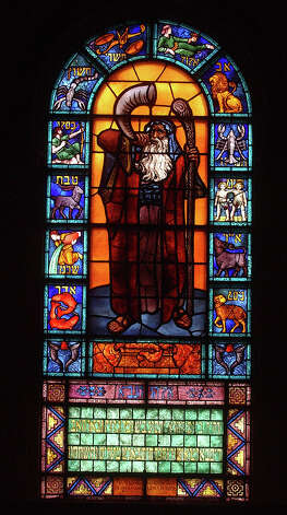 Stained glass windows at Temple Emanuel in Beaumont, Texas done by Zeev Raben, an Israeli.  Photos by DR and shot on 3/18/2002 Photo: Dave Ryan, Assistant Photo Editor / The Beaumont Enterprise