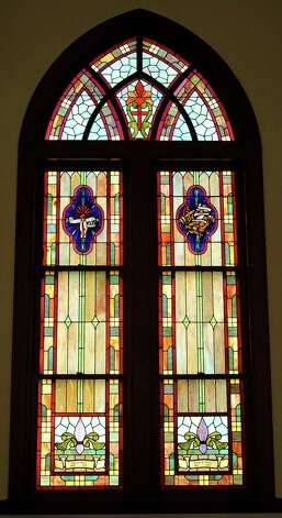 McCabe Roberts Avenue United Methodist Church has 18 total stained glass windows, 15 in the sanctuary, and three in a chapel.       Dave Ryan/The Enterprise