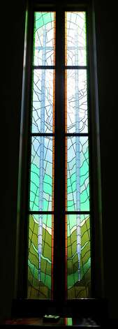 Antioch Missionary Baptist Church on the Cardinal Drive has this window in the front lobby.  Dave Ryan/The Enterprise