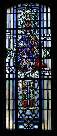 Stained glass windows located at Saint Anne Catholic Church in Beaumont on the corner of 11th Street and Calder. Photo taken: Randy Edwards/The Enterprise