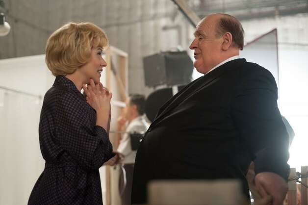 "Scarlett Johansson as Janet Leigh and Anthony Hopkins as Alfred Hitchcock on the set of ""Hitchcock."" Photo By Suzanne Tenner/Fox Searchlight. Photo: Photo By Suzanne Tenner"