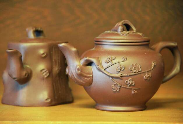 $34.00 clay tea sets at Orions on Jay Street in Schenectady Nov. 13, 2012.  (John Carl D'Annibale / Times Union) Photo: John Carl D'Annibale / 00020069A