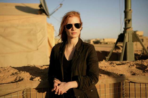 Stationed in a covert base overseas, Jessica Chastain plays a member of the elite team of spies and military operatives who secretly devoted themselves to finding Osama Bin Laden in Columbia Pictures' electrifying new thriller directed by Kathryn Bigelow, ZERO DARK THIRTY. Photo: Jonathan Olley / © 2012 Columbia Pictures Industries, Inc. All rights reserved.