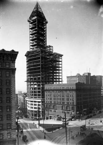 The Smith Tower, shown here in 1913, was completed the following year and was the largest building in Seattle until the Space Needle was completed for the 1962 World's Fair. Photo: Seattle Municipal Archives