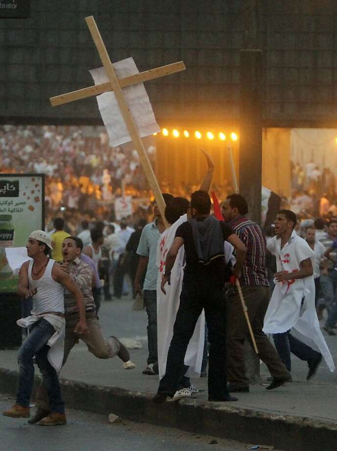 Christians in Egypt have still not received justice under President Mohammed Morsi's government for an attack on a church in Cairo in 2011. Photo: Ahmed Ali, Associated Press
