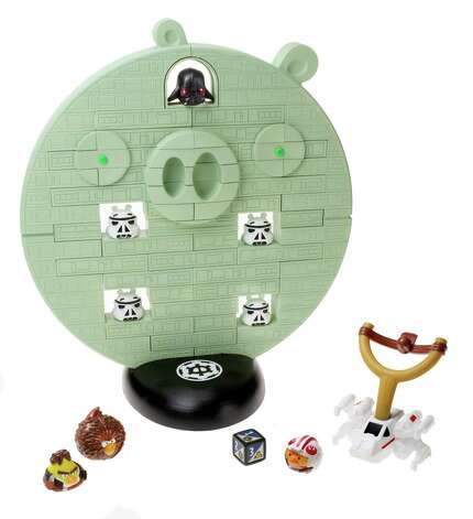 "Angry Birds Star Wars - Jenga Death Star Game  ($29.99, ages 8-plus). The toy is based on the hit ""Angry Birds"" video game with ""Star Wars"" characters. Photo: Courtesy, Hasbro"