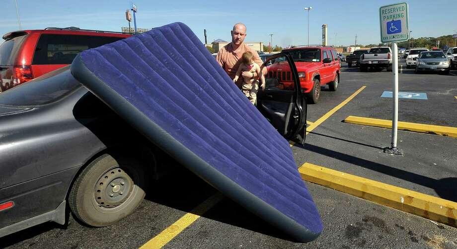 Air mattresses Photo: Dave Ryan