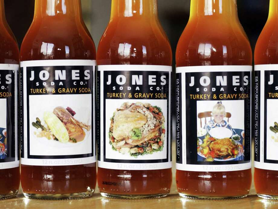 Seattle's Jones Soda introduced perhaps the safest way ever to consume turkey in 2003, with its limited edition Turkey & Gravy-flavored soda. Photo: Ron Wurzer, Getty Images / 2003 Getty Images