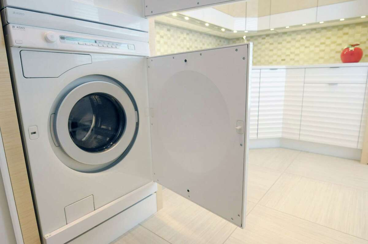 A view of the Asko washing machine in the laundry room of a home on Thursday, Nov. 8, 2012 in Loudonville, NY. The Asko brand is from Sweden. (Paul Buckowski / Times Union)
