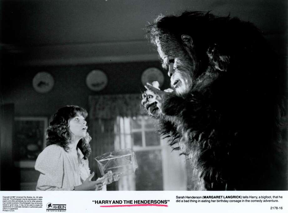 """Harry and the Hendersons"" (1987) showed a kinder, gentler bigfoot to young movie audiences.  Photo: Universal City Studios, Inc / handout"