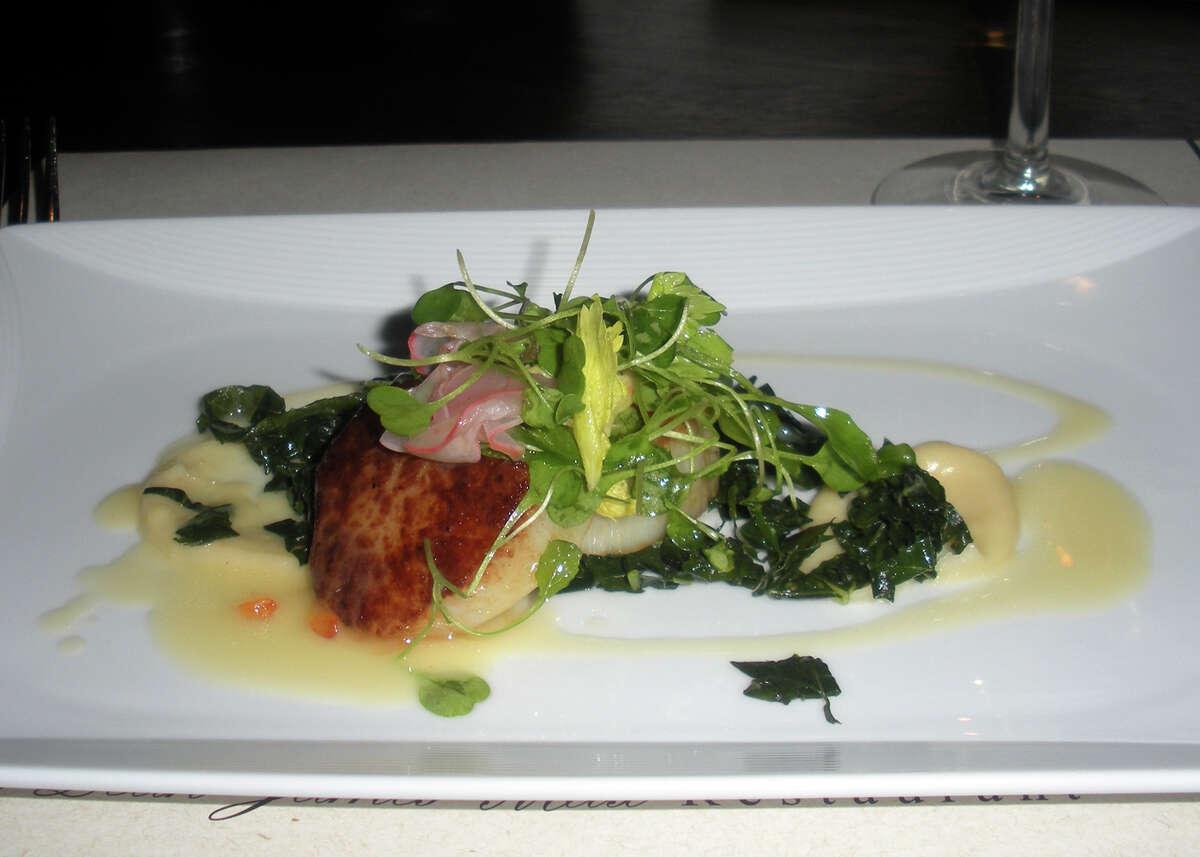 Sharred dish, Parallel Post at the Trumbull Marriott.
