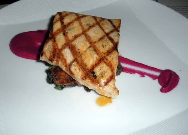 Sharred dish, Parallel Post at the Trumbull Marriott. Photo: Eileen Fischer / Connecticut Post