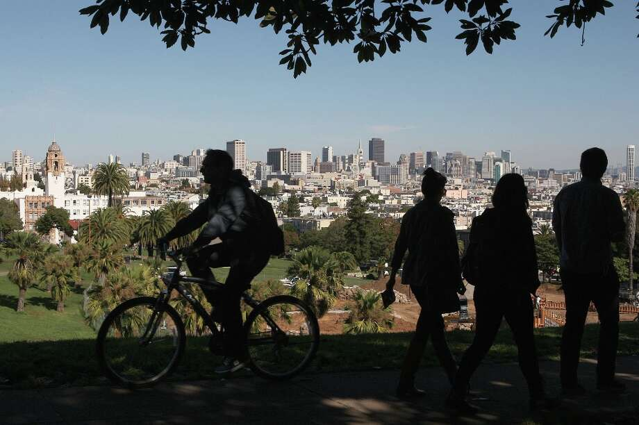 "The parks: From Golden Gate Park and Dolores Park (pictured), to tiny parklets in The City and open spaces all over the Bay Area. ""All the parks, where we come together off-screen,"" said the folks who run the Jered's Pottery Twitter feed @jeredspottery. Photo: Liz Hafalia, The Chronicle / SFC"