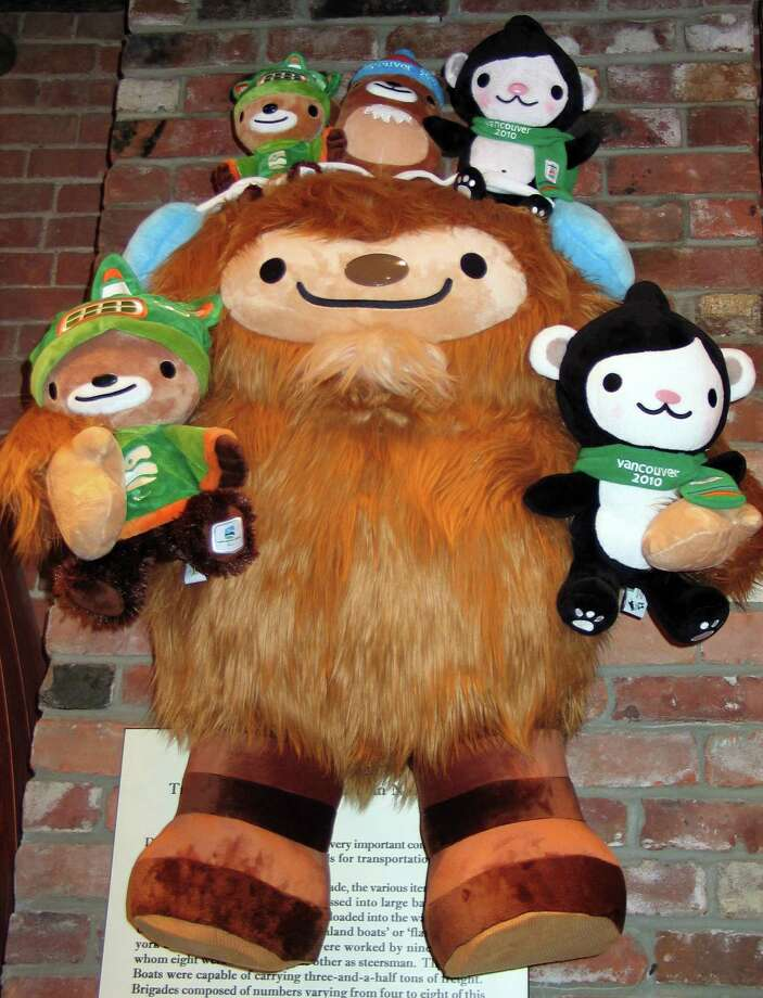 One of the mascots for the Winter Olympics in Vancouver was Quatchi, a friendly sasquatch. Photo: Ellen Creager, MCT / Detroit Free Press
