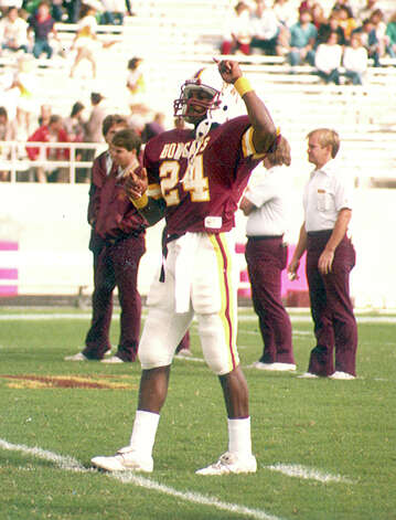 Southwest Texas player David Glasco, who played with the Bobcats in the early 1980s and still maintains school records.