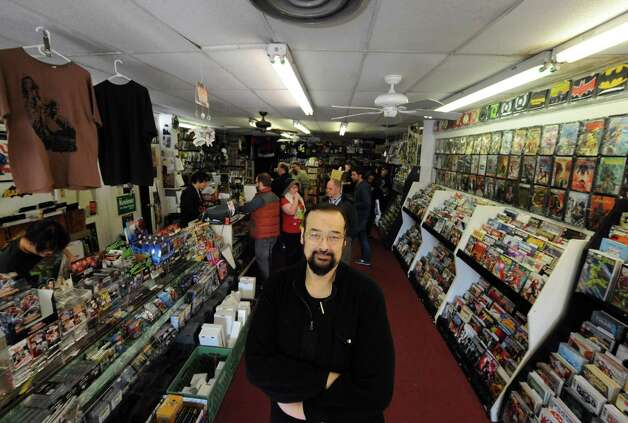 J.G. Glindmyer owner of Earthworld Comics in Albany, NY Wednesday Nov. 21, 2012. (Michael P. Farrell/Times Union) Photo: Michael P. Farrell