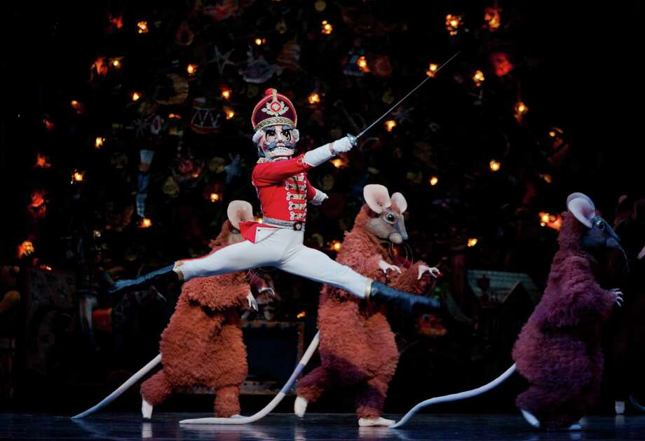 "Charles Yoshiyama as the Nutcracker Prince in Houston Ballet's production of ""The Nutcracker,"" choreographed by Ben Stevenson. Performances are Nov. 23-Dec. 30 at Wortham Theater Center. Photo: Amitava Sarkar, Photographer"