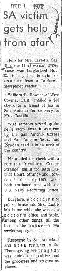 Article from Dec. 1, 1972, issue of the News.