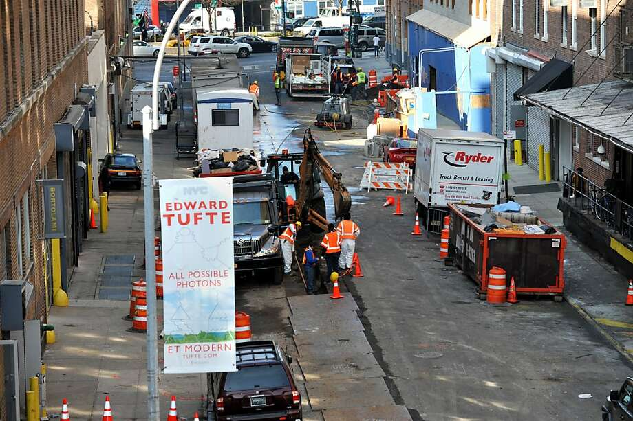 West 20th Street gets repairs as New York recovers from its beating by Superstorm Sandy. Photo: Stan Honda, AFP/Getty Images