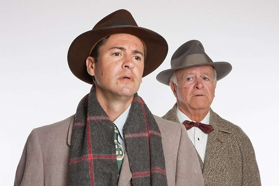 "Dan Saski (left) and Tom Flynn in Town Hall Theatre's staging of ""It's a Wonderful Life."" Photo: Stu Selland"